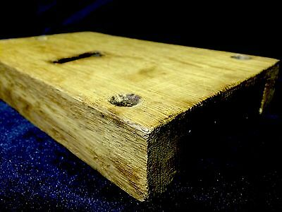 Vintage English Oak Box Lock , Architectural Salvage Knocker Handle Knob Bell 2