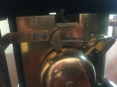 Mahogany bracket clock, fine quality Englishdouble fusée movement 10