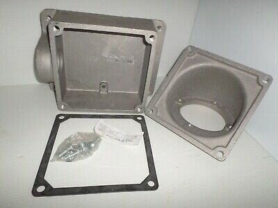 *NEW IN BOX* CROUSE HINDS AJ78 PIN&SLEEVE 200-Amp RECEPTACLE ANGLE BACK BOX 200A 8