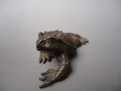Collect Old China Bronze Carving Auspicious Toad Pendant Decoration paperweight
