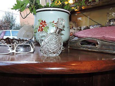 Vinegar Decanter Silver Mounted Cut Glass Birmingham 1935 Jubilee Hallmarks 9
