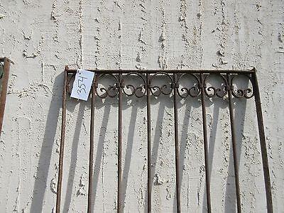 Antique Victorian Iron Gate Window Garden Fence Architectural Salvage Door #354 2