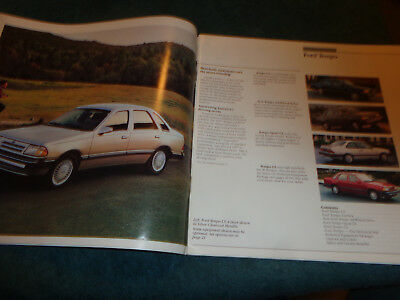 1987 Ford Tempo 24-page Original Car Dealer Sales Brochure Catalog