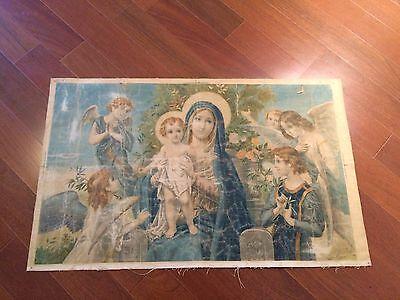 Luigi Morgari Fresco Painter (Canvas) Mary Holding Baby Jesus and Joyous Angels 2