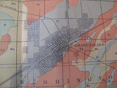 Color Soil Survey Map Grand Island Sheet Nebraska Shelton Wood River Abbott 1903 2