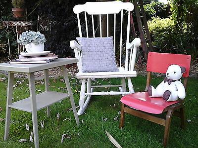 RARE COLLECTORS~ 1x Antique Vintage Wooden Child School Desk Chair (3 available) 10