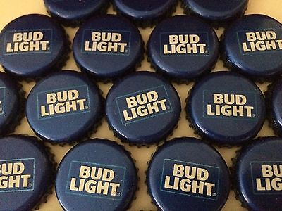 100 Lot New Current RETRO BUD LIGHT Beer Bottle Caps Crowns~NO DENTS! Clean! 2