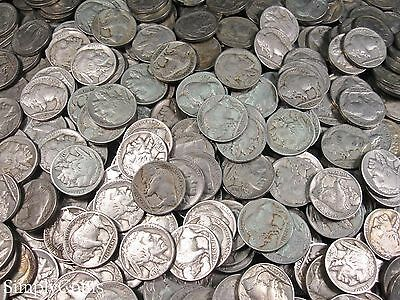 Full Date Indian Head Buffalo Nickel Coin Lot Set Mixed Date Roll 40 4