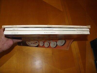 Antiguedades Revista 11/53 4/72 1/84 Muebles Relojes Textiles Cristalería Arte 3