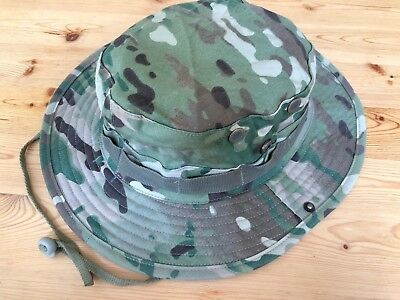 Multicam Boonie Hat US Army Woodland BDU Jungle Sun Cap Military 1 Size Fits All 4