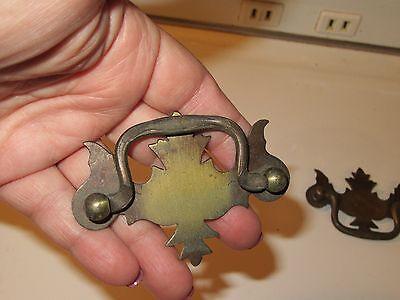 2 Vintage Dresser Cabinet Hardware Pull Handles - Bronze Finish 4