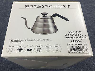 Hario V60 Buono Coffee Drip Kettle 1,000ml VKB-100HSV VKB-100 MADE IN JAPAN 5