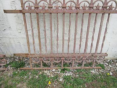 Antique Victorian Iron Gate Window Garden Fence Architectural Salvage Door #306 4