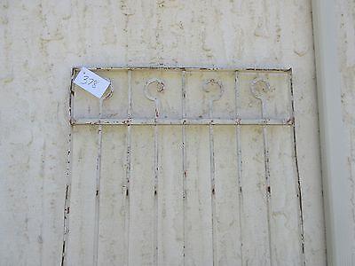 Antique Victorian Iron Gate Window Garden Fence Architectural Salvage Door #378 2