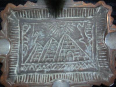Ancient Egyptian Queen Nefertiti - Bronze bust on ashtray base 5