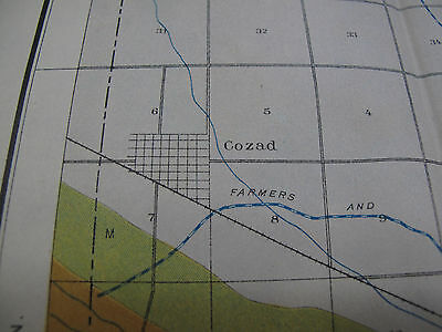 Folded Color Soil Survey Map Lexington Sheet Nebraska Overton Cozad NE 1904 4