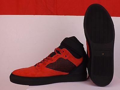 40cc9a7fbbe ... Balenciaga Red Suede Black Mesh Neoprene Strap Hi Top Sneakers 43 Us 10  #412349 9