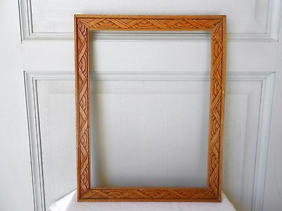 Vintage french wood Picture FRAME Plaque Pediment 4