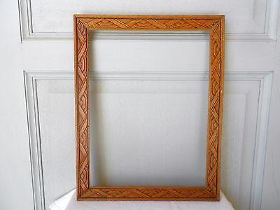 Vintage french wood Picture FRAME Plaque Pediment 4