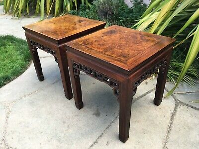 2 RARE ANTIQUE CHINESE HUANGHUALI WOOD SIDE TABLE  wood asian art chair 7
