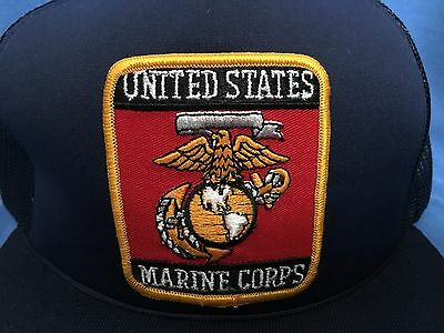 ... of 6Only 1 available Vintage United States MARINE CORPS Trucker Hat USMC  Cap Semper Fidelis Military 2 6141cfd97031