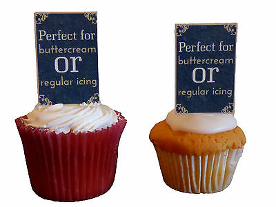 Ruby Wedding Anniversary Edible Cup Cake Toppers Stand Up 40th Decorations