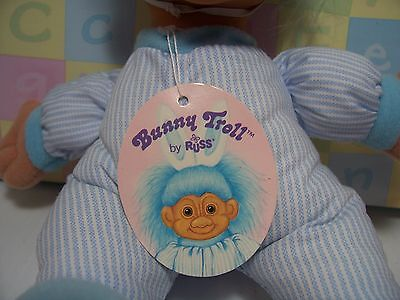 "NEW RABBIT w//HANG TAG 9/"" Soft Russ Troll Doll EASTER BUNNY"