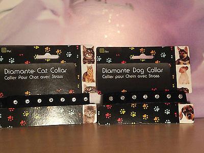 Black Velvet Diamante Cat Collar   Cco 03 3 • EUR 4,95