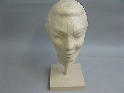 Kopf aus Pappmaschee Kopfhörerhalter Perückenkopf Hutkopf Huthalter 37cm 4