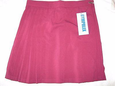 """GYMPHLEX Girls/Ladies MAROON School Gym Kilt/Skirt W32"""" 16+ yrs- NEW! 2"""