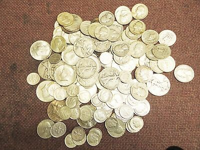 $1 Face Value - 90% Silver U.S. Coin Lot - Half Dollars, Quarters or Dimes 2