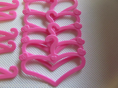 12 20 30 Mini Pink Coat Dress Clothing Hangers Barbie Sindy Size Dolls Uk Seller 3