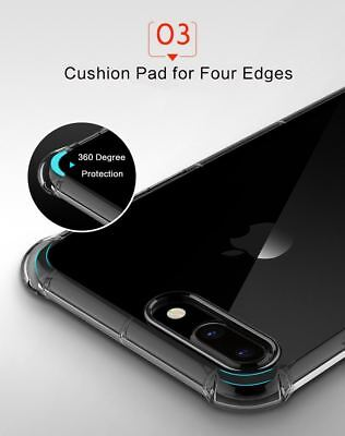 for iPhone Xs 8 7 6 Plus Case Cover silicon Shock proof Tough Hard Gel Lot 5 SE 7