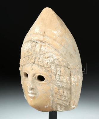 Wonderful Greek Archaic Terracotta Head of Goddess Lot 14A