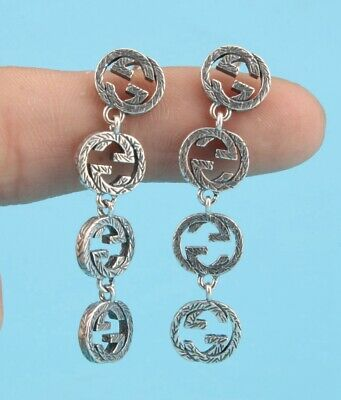 China Solid Silver Hand-Carved Lady Ear Stud Pendant Fashion Lady Collection 4