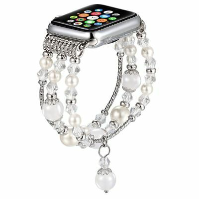 For Apple Watch Series 5 4 44MM Bling Agate Beads Strap Bracelet Band iWatch 2 3 9