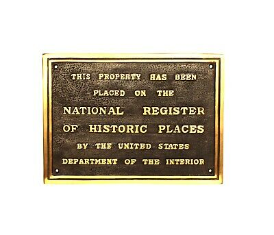National Register of Historic Places Wall Plaque Solid Brass Old Building Sign 2