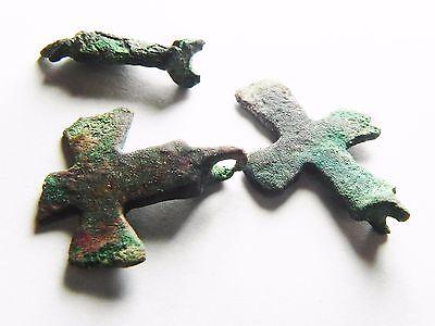 Zurqieh - Aa6906- Ancient Byzantine Lot Of 3 Bronze Relics. 600 A.d - Jordan 3