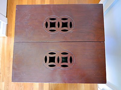 VTG Chinese Wooden Hibachi Table Ming Style Mid Century MCM Asian Planter 5