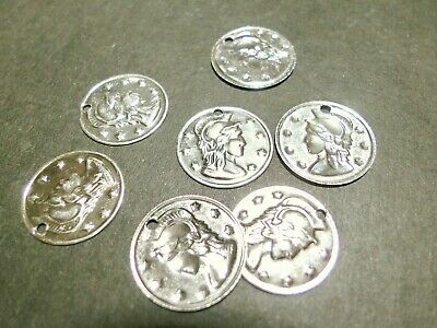20pc 16mm Silver Metal Roman Coin Pendant Bead Jewellery Accessory Charm 3