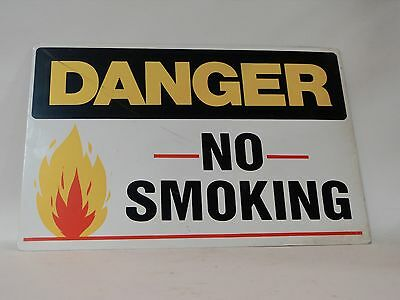 Danger No Smoking Open Flame Cautionary Sign Factory Warehouse 2