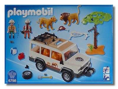 PLAYMOBIL 6798 Safari Geländewagen Tiere Löwen Wild life  Neu OVP Playmobil Abenteuer