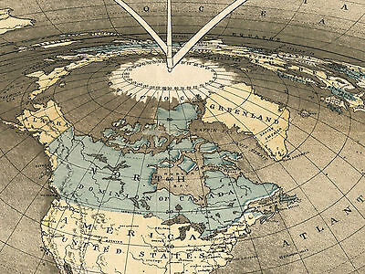Square Earth Map.1893 Map Square And Stationary Earth Orlando Ferguson Flat Earth