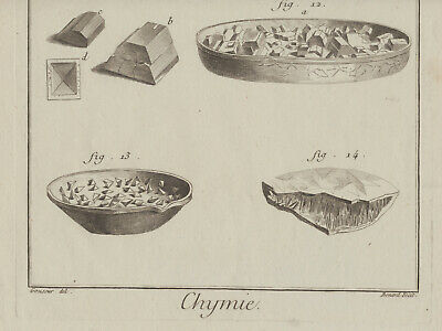 Chemiker Chemie Orig Kupferstich 1770 Apotheker Kristalle Versuche Chemikalien 5