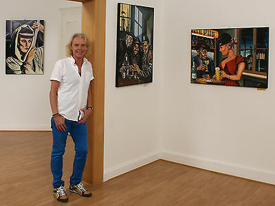 Volker Welz Künstler Kunstausstellung Flyer Wallberg Restaurant Nelson Müller