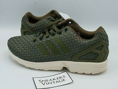 VINTAGE ADIDAS ZX Flux 2014 Military Kaki Reflect Taille 43