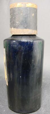 Kobaltblaue Apothekenflasche Pepsinum solub., Frankreich 19.Jh. Abriss. 2