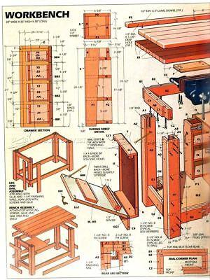 Carpenter WoodworkWorkbench 5 Dvd Blueprints Cabinet Shelve Encyclopedia Of Wood 11