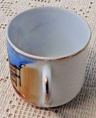 Vintage Souvenir Hand Painted Porcelain Cup & Saucer - San Francisco Cable Car 9