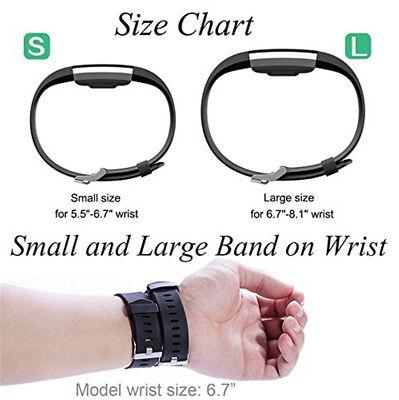 Fitbit Charge 2 Armband Uhrenarmbänder Verstellbares Ersatz Sport Fitnesstracker 9